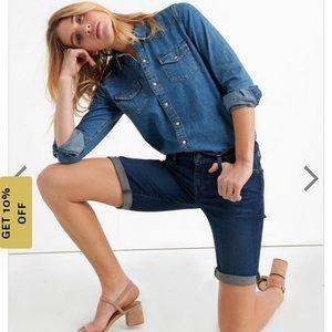 Lucky Brand Medium Wash 'The Bermuda' Jean Shorts